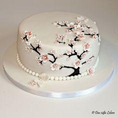 Rezept Geburtstagstorte mit Kirschblüten und Schmetterlingen   Das süße Leben