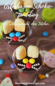 Pudding kann man ja ganz einfach ohne Tütchen machen. Jetzt zu Ostern natürlich mit einem Osterhasen -Gesicht.  Und im selbstgemachten Schokopudding verwende ich immer die Osterhasen und Weihnachtsmänner des Vorjahres. Schmeckt richtig gut und natürlich viel besser als der Mist aus der Tüte. Die Kinder lieben selbstgemachten Pudding.  #selbstgemacht #pudding #schokolade