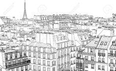 Illustration De Toits à Paris La Nuit Clip Art Libres De Droits , Vecteurs Et Illustration. Image 12186937.