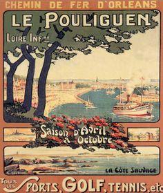 Le Pouliguen Loire Atlantique  Région Pays de Loire , mais c'est en Bretagne !