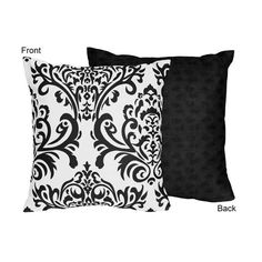product image for Sweet Jojo Designs Isabella Throw Pillow in Black/White