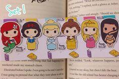 Os marcadores de página de personagens da Happy Hello