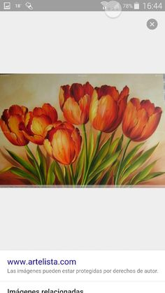 paintings of yellow tulips - Yahoo Image Search Results Tulip Painting, China Painting, Painting & Drawing, Art Floral, Pictures To Paint, Art Pictures, Watercolor Flowers, Watercolor Paintings, Fleur Orange