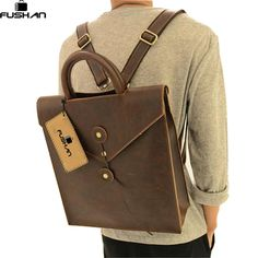 Young fashion new 2017 leather men bag casual male student backpack men backpacks men's travel bags school backpacks for women #Affiliate