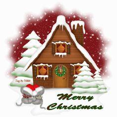 Animated Christmas house