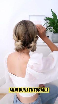 Cute Simple Hairstyles, Braided Hairstyles, Cool Hairstyles, Hairdo For Long Hair, Hair Dos, Medium Hair Styles, Short Hair Styles, Gorgeous Hair, Hair Hacks