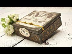 Tutorial: Scatola porta bustine da Tè in pizzo e decoupage (tea bags holder box) [eng-sub] - YouTube