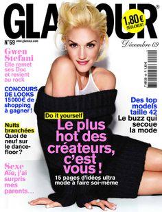 Gwen Stefani en couverture du magazine Glamour n°69 (décembre 2009)