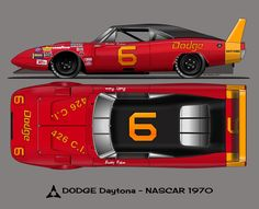Dodge Daytona 1970 – Sport is lifre Street Racing Cars, Sports Car Racing, Auto Racing, Daytona Car, Dodge Daytona, Old Race Cars, Us Cars, Nascar, Car Illustration