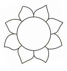 Flower template free printable google search applique for Preschool flower crafts templates