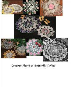 Amazon.com: Crochet Floral and Butterfly Doilies - Vintage Crochet Doily Patterns - Summertime Crochet eBook: