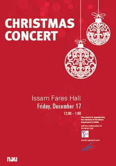 christmas concert put the great oak in one globe and the wolf in another - Christmas Poster Ideas