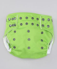 Take a look at this One-Size Froggy Green Pocket Diaper by Jungle Roo on #zulily today!