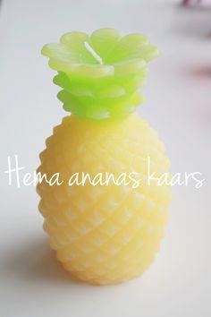 Ananas kaars van de Hema #hema http://zosammieenzo.nl/shoppen-bij-de-hema/