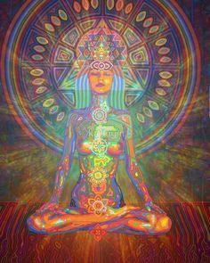 Shakti digital - 2016 by Karmym par karmym Psychedelic Art, Chakras, Art Chakra, Art Hippie, Yoga Kunst, Yoga Painting, Art Fractal, Art Visionnaire, Yoga Studio Design
