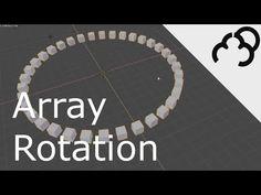 Blender 2.8 Array Modifier Rotate - YouTube