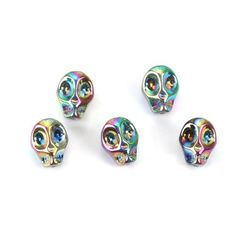 Promotional Events, Beaded Skull, Glass Beads, Jewelry Design, Rainbow, Metal, How To Make, Crafts, Accessories