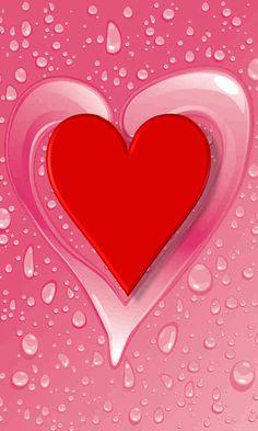 Heart Wallpaper, Love Wallpaper, Mobile Wallpaper, Love You Gif, Cute Love Gif, Free Live Wallpapers, Cute Wallpapers, 3d Animation Wallpaper, Mom I Miss You