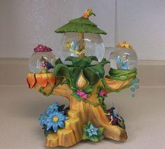 Disney Tinkerbell Tinker Bell & Fairy Friends Music Box W/3 Snowglobes Rare #Disney #Tinkerbell