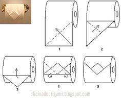 Oficina do Origami: Origami com papel higiênico