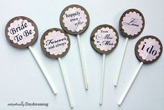 bridal shower cupcakes | Country Bridal Shower Cupcake Topper {Free} Printable ...