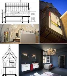 Church Remodeled into Modern Home, Chimacum, Washington.