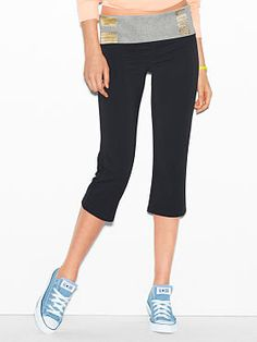 Spring is almost here <3 Bling Yoga Crop Pant