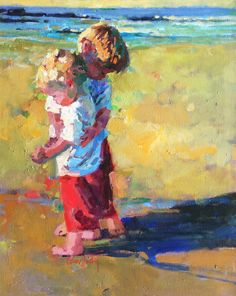 "Galleries in Carmel California- Jones/Terwilliger - Corinne Hartley, Artist ""Hug your Brother"""