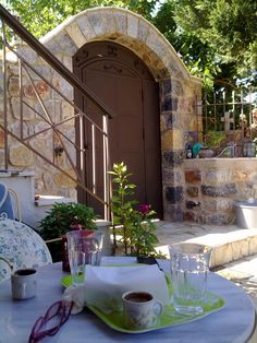 Greek coffee in a traditional house..