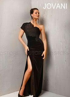 Vestido de Festa Longo Um Ombro em Veludo e Renda Ghislaine 1323 : Dstore Miami, Vestidos de Festa Importados