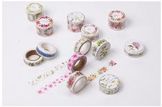 Flower Series Watercolour Japanese Washi Tape, Masking Tape, Scrapbooking Stickers, Planner Stickers - WT227
