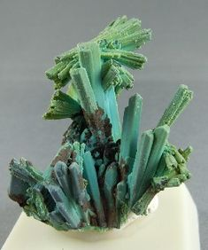 Chrysocolla after Selenite, Ray, AZ / Mineral Friends <3