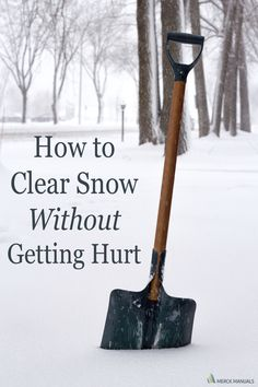 Snow removal is a major cause of winter-related injuries.This article shares several ways to reduce your injury risk.