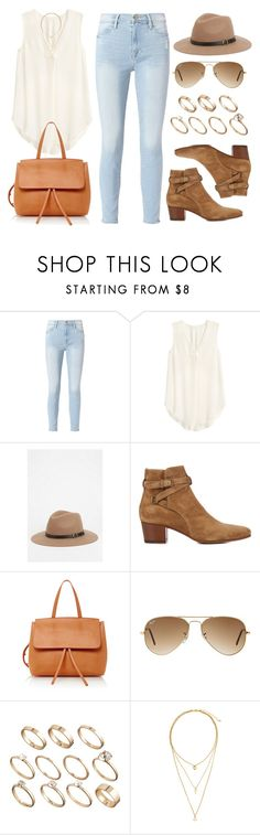 """Sin título #12600"" by vany-alvarado ❤ liked on Polyvore featuring Frame, H&M, Staring At Stars, Yves Saint Laurent, Mansur Gavriel, Ray-Ban and ASOS"
