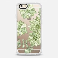 watercolor painting succulent cactus - New Standard iPhone 6 Case in Clear and Clear by @very_sarie #phonecase | @casetify