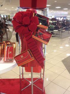 AFTER: Handbag Christmas bust form @macys D&B