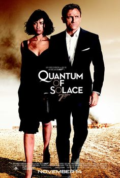 Daniel Craig in Quantum of Solace.  So there's lots of criticism about this second movie...seriously?  Other than having a lackluster villian, this is actually quite good, fleshing out the new Bond that Craig is developing.   After all the wisecracks and gimmicks of past movies, this is more like the earlier Sean Connery films and actually most like the books.  This is a Bond more akin to the one originally conceived by Ian Fleming.