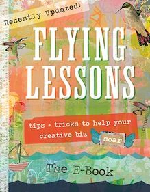 Kelly Rae Roberts : flying lessons the whole shabang
