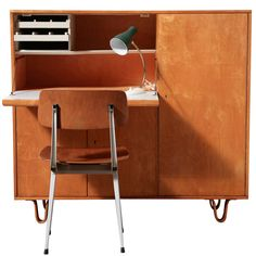Cees Braakman Secretaire for Pastoe. Netherlands. And Friso Kramer chair.