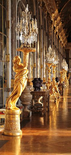 Hall of mirrors, Versailles by Natalia Vega