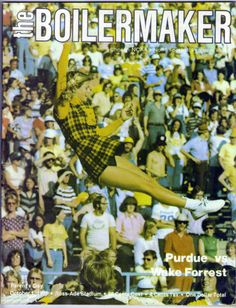 Ncaa Football Game, College Football Games, Wake Forrest, West Lafayette Indiana, Purdue University, October 1, Big, Vintage