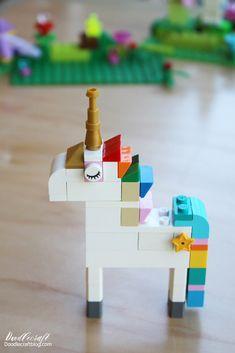Doodlecraft: How to Build: Lego Unicorn Instructions--10 way