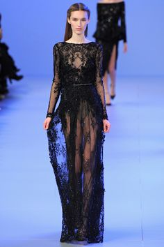 black Elie Saab new york fashion week 2014