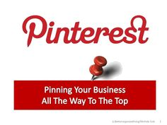 How to Market Your Business with Pinterest Presentation by Http://betterorganizedliving.com via slideshare