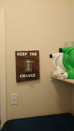 Reclaimed pallet wood laundry room sign