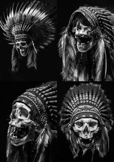 Animal Skull Tattoos, Indian Skull Tattoos, Skull Sleeve Tattoos, Animal Skulls, Skeleton Drawings, Skeleton Art, Horse Drawings, Native American Tattoos, Native Tattoos