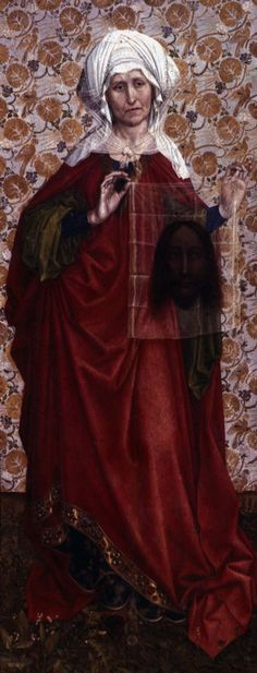 Veronica Sudarium  | robert campin saint veronica with the sudarium ca 1430s oil on panel ...