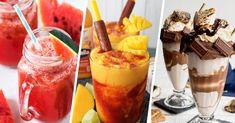 15 Saludables y deliciosas bebidas que te quitarán la sed Milkshake, Healthy Drinks, Panna Cotta, Pudding, Ethnic Recipes, Desserts, Food, Pineapple Whip, Chocolate Cobbler
