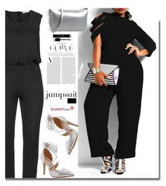 """Sammydress.com: Curves: Jumpsuit"" by hamaly ❤ liked on Polyvore featuring Persona, Christian Dior, shoes, ootd, jumpsuits and sammydress"
