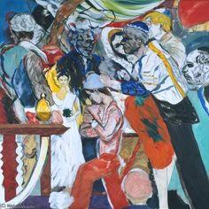 """""""el la boda"""" de R B Kitaj (1932-2007, United States)"""